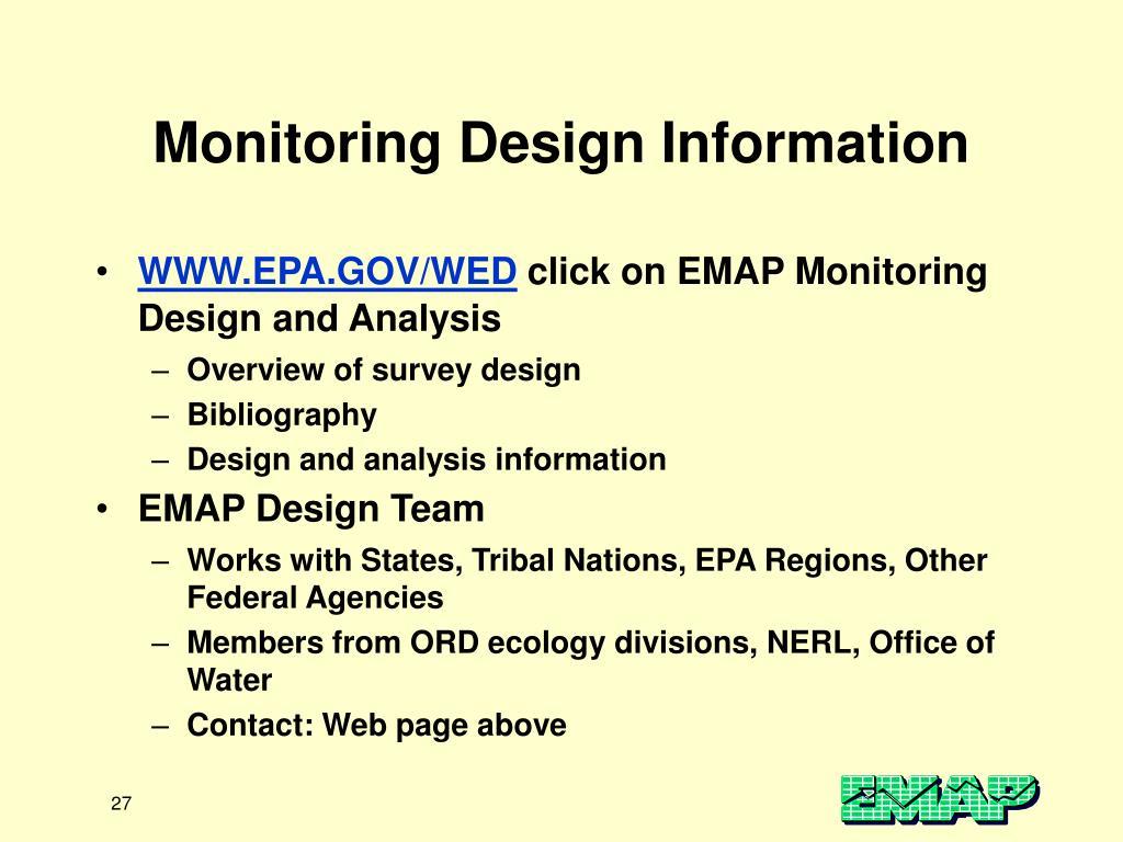 Monitoring Design Information