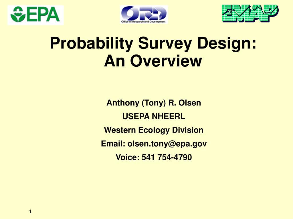Probability Survey Design: