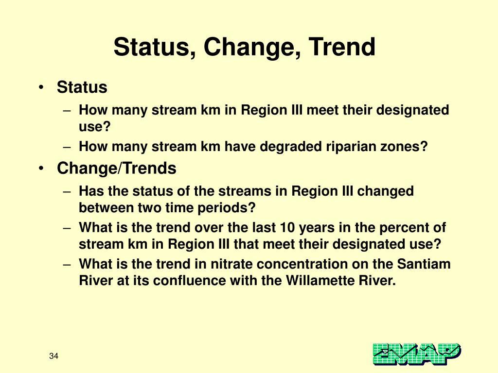Status, Change, Trend