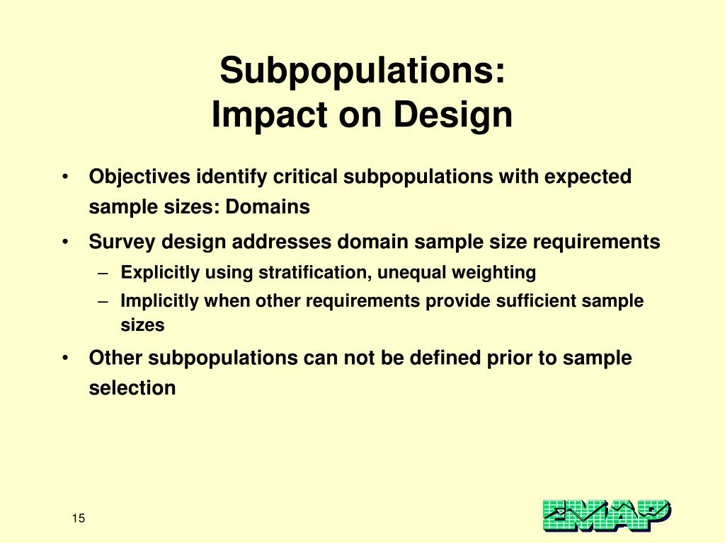 Subpopulations: