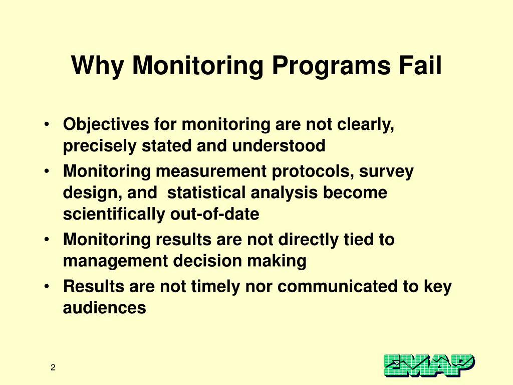 Why Monitoring Programs Fail