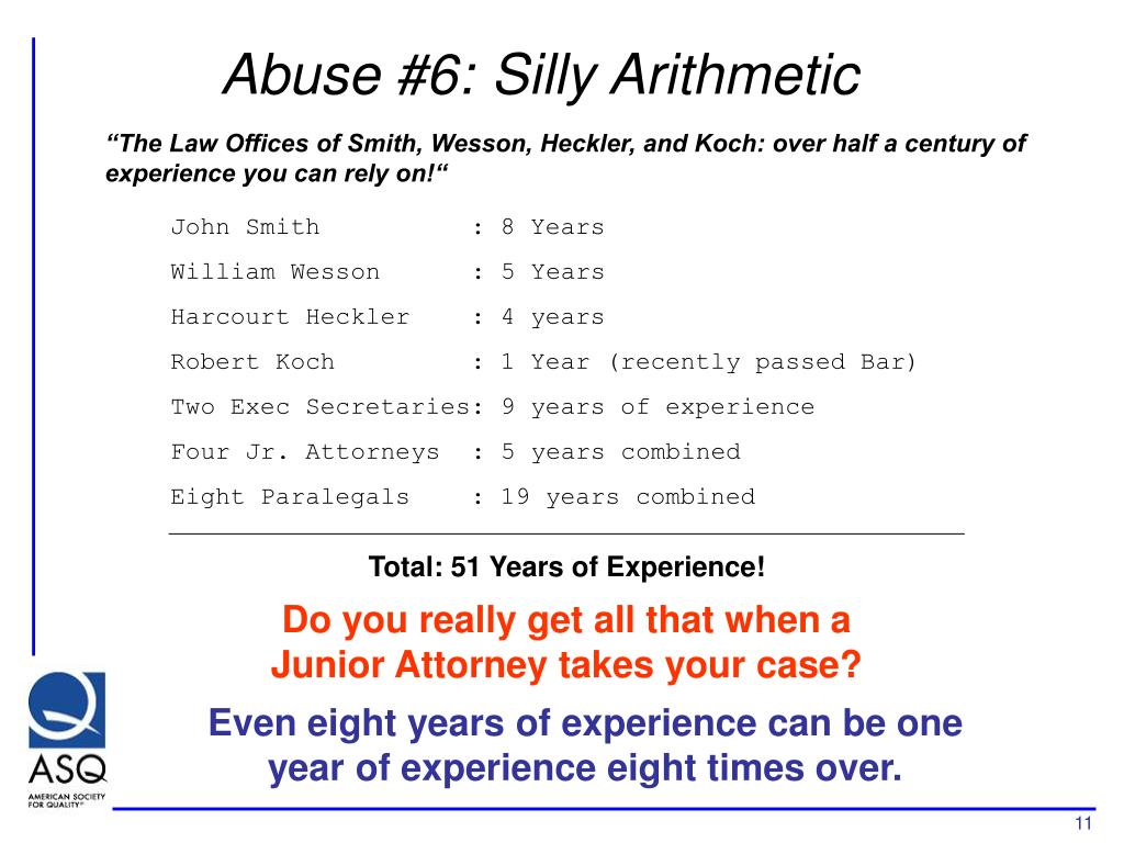 Abuse #6: