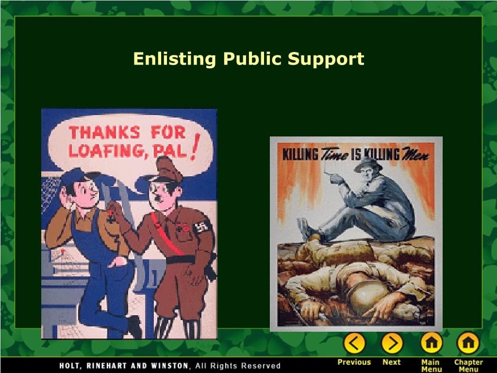 Enlisting Public Support