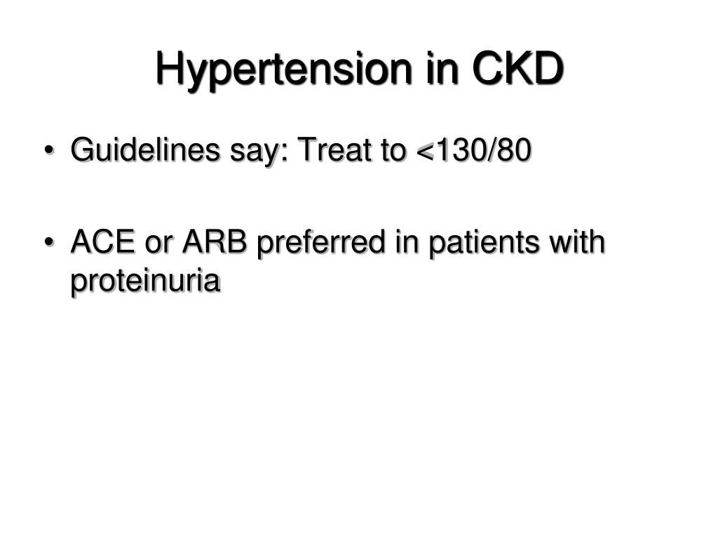 Hypertension in CKD