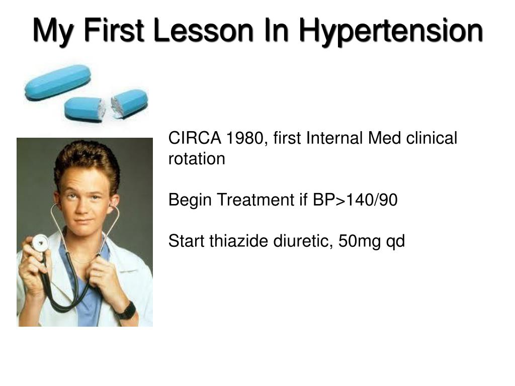 My First Lesson In Hypertension