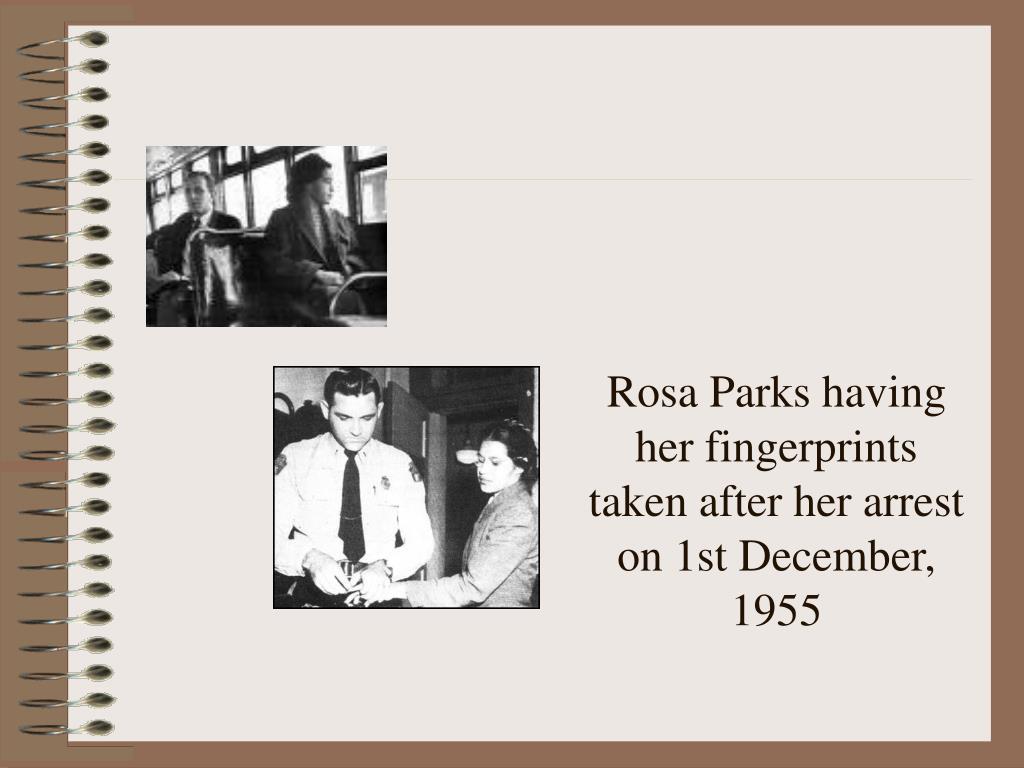 Rosa Parks having her fingerprints taken after her arrest on 1st December, 1955