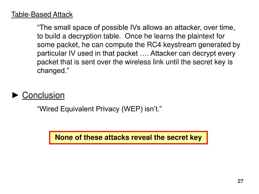Table-Based Attack