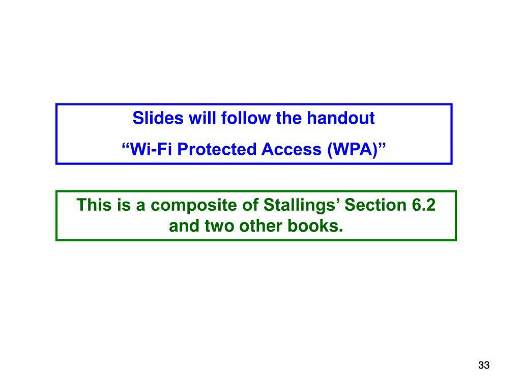 Slides will follow the handout
