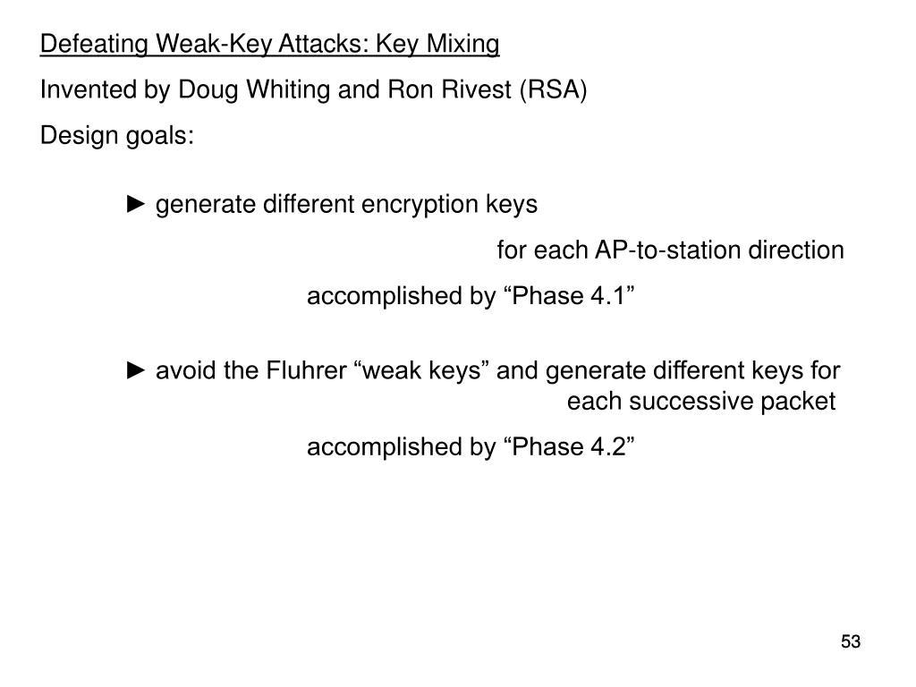 Defeating Weak-Key Attacks: Key Mixing