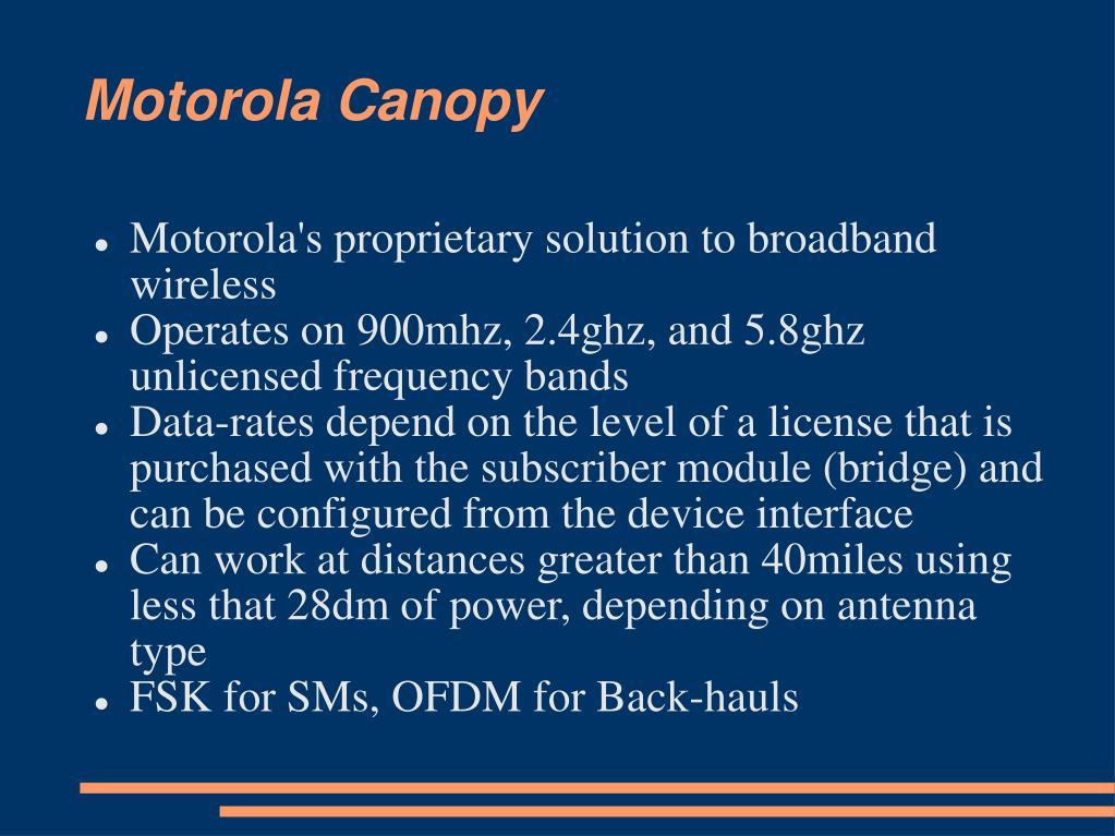 Motorola Canopy