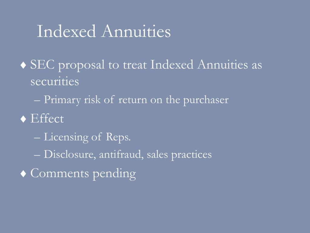 Indexed Annuities
