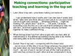 making connections participative teaching and learning in the top set