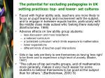 the potential for excluding pedagogies in uk setting practices top and lower set cultures