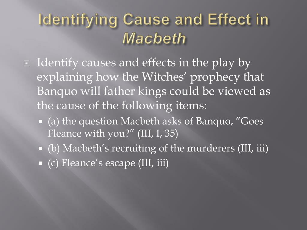 Identifying Cause and Effect in
