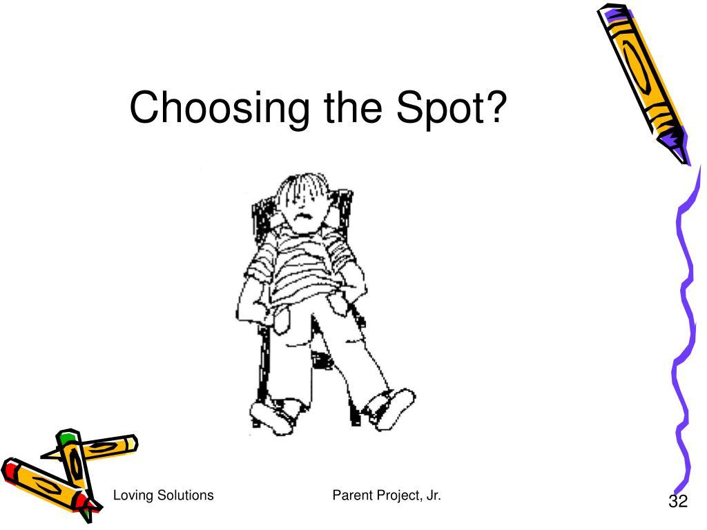 Choosing the Spot?