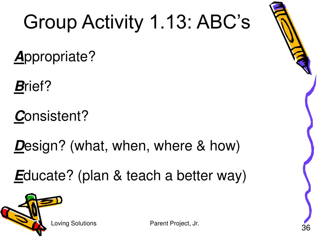 Group Activity 1.13: ABC's