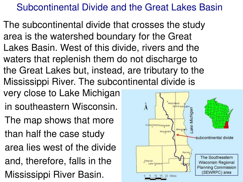 Subcontinental Divide and the Great Lakes Basin