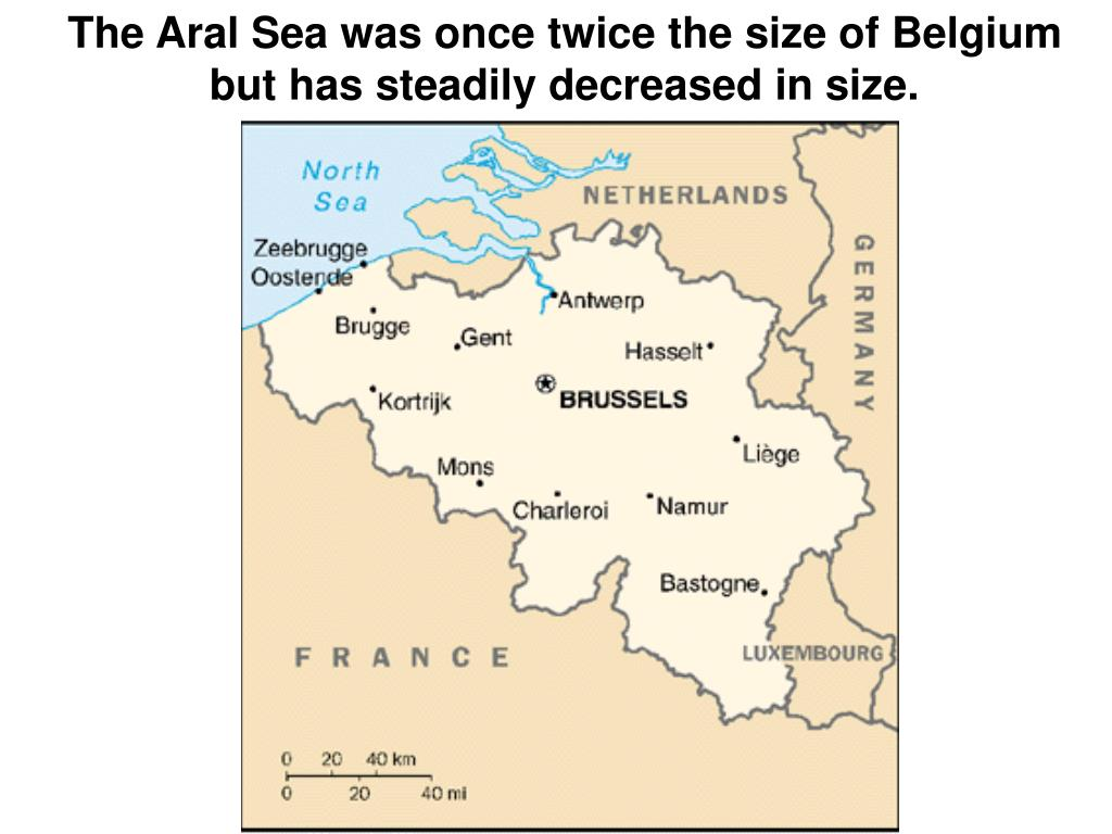 The Aral Sea was once twice the size of Belgium