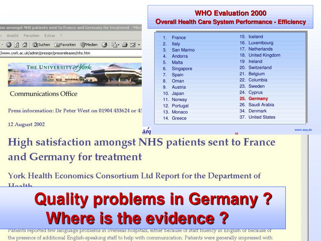 Quality problems in Germany ?