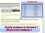 quality problems in germany where is the evidence