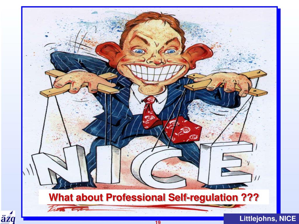What about Professional Self-regulation ???