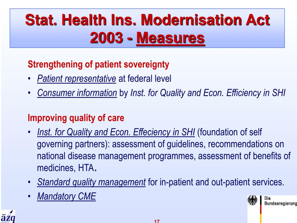 Stat. Health Ins. Modernisation Act