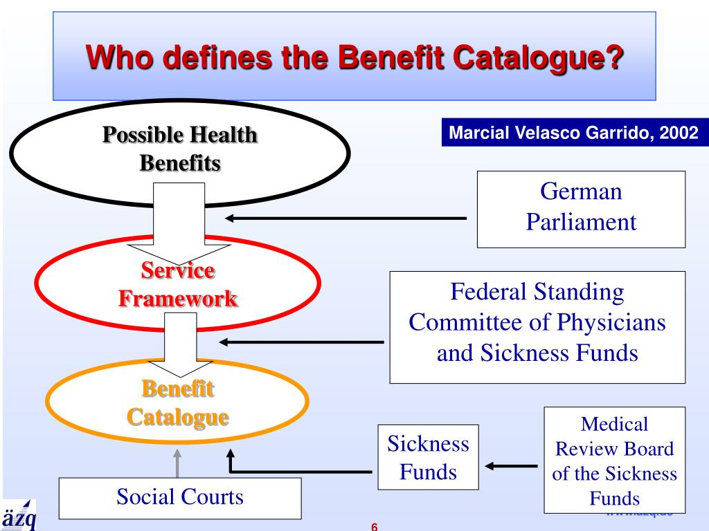 Who defines the Benefit Catalogue?