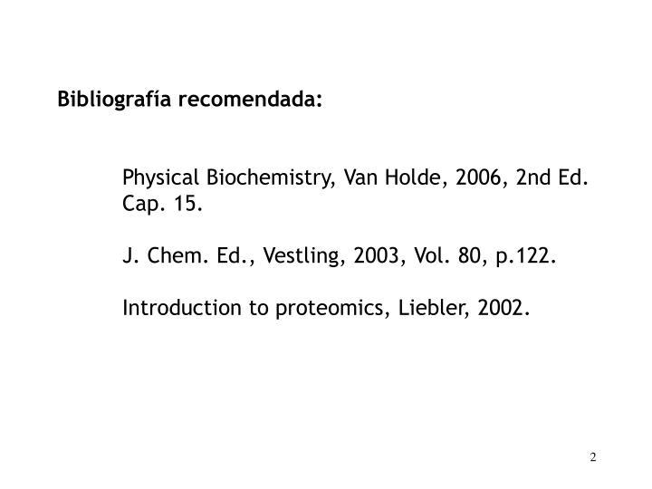 Bibliografía recomendada: