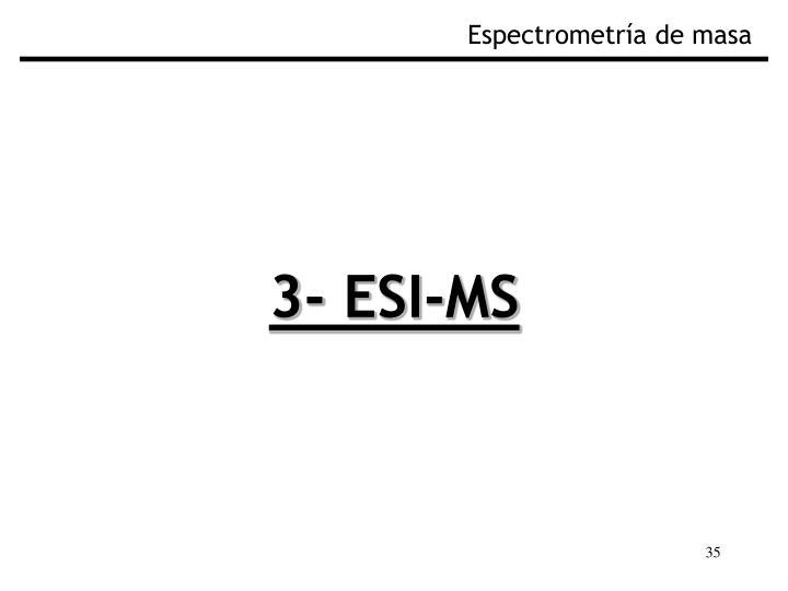 Espectrometría de masa