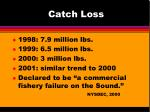 catch loss