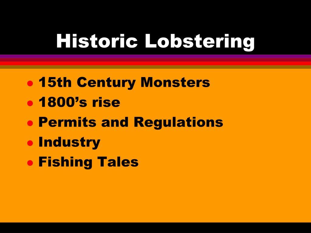 Historic Lobstering