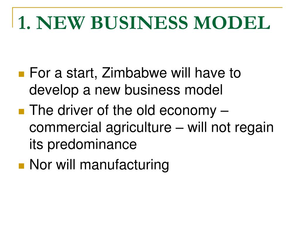 1. NEW BUSINESS MODEL