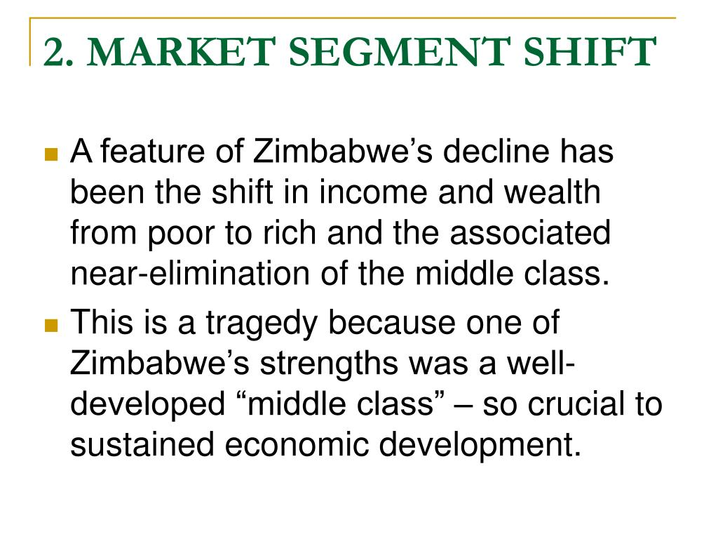 2. MARKET SEGMENT SHIFT