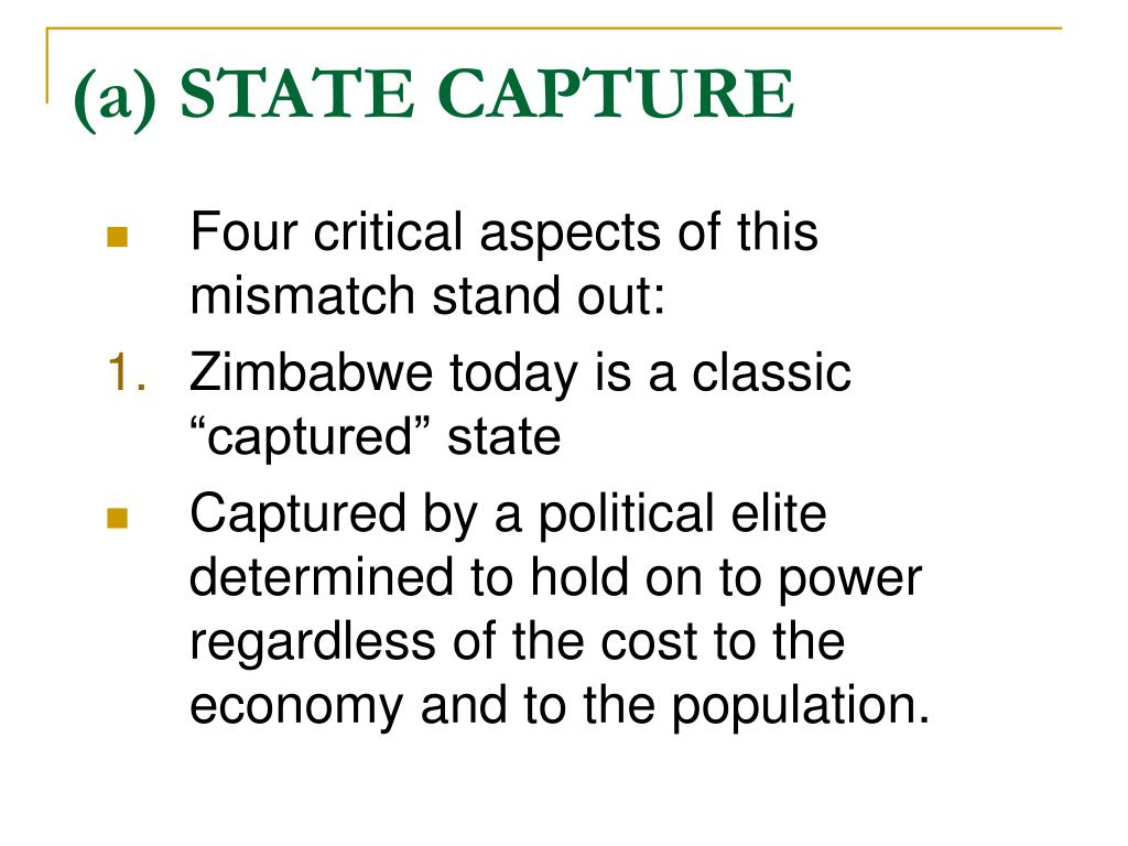 (a) STATE CAPTURE