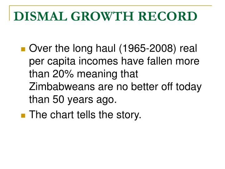 Dismal growth record l.jpg