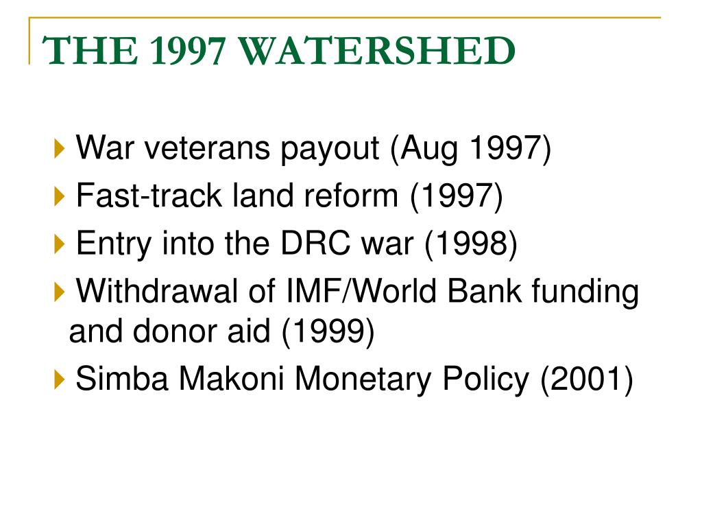 THE 1997 WATERSHED