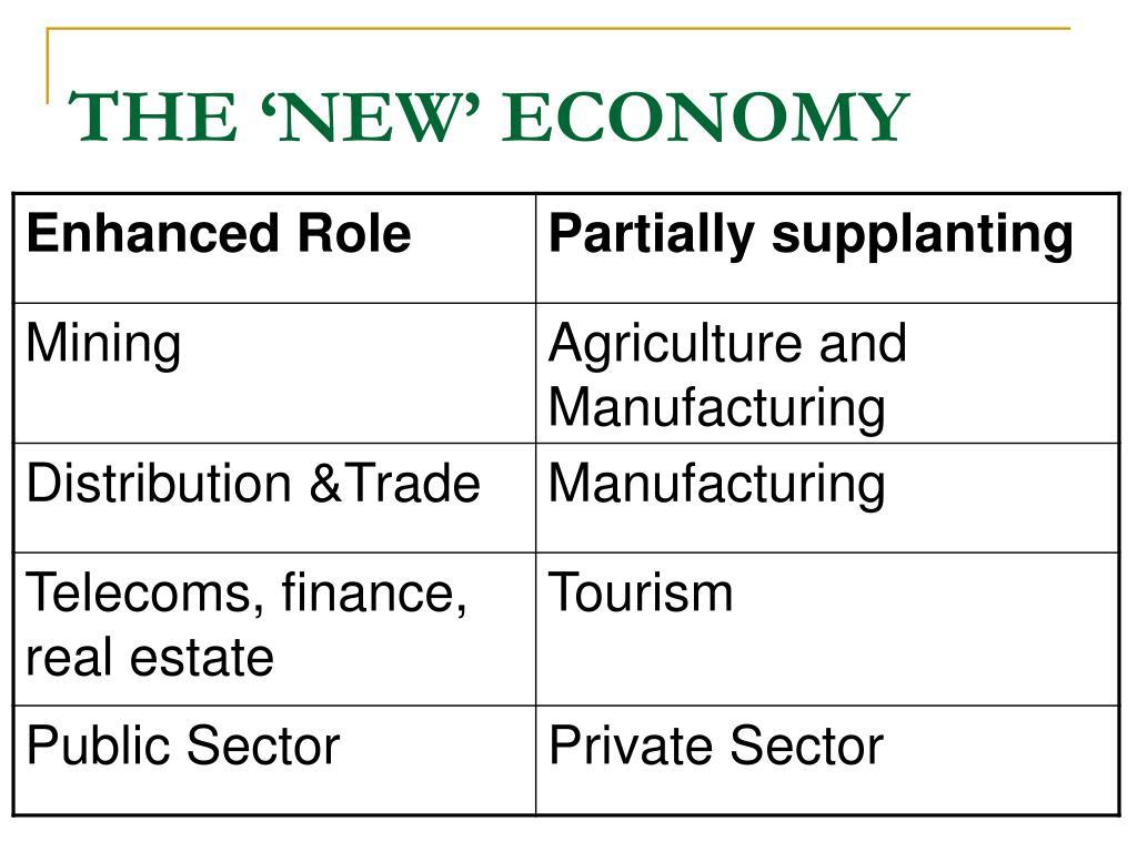 THE 'NEW' ECONOMY