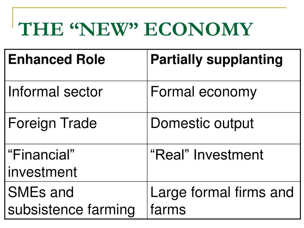 """THE """"NEW"""" ECONOMY"""