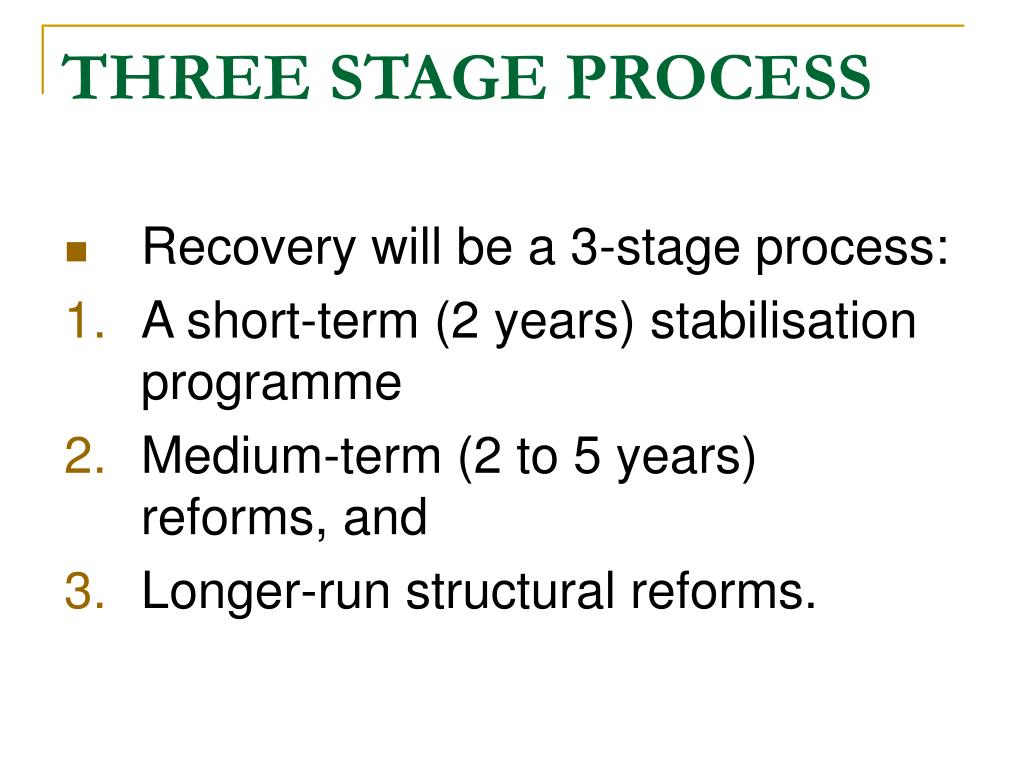 THREE STAGE PROCESS