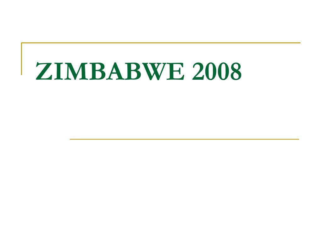ZIMBABWE 2008