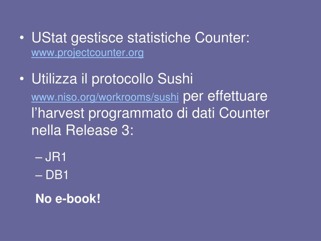 UStat gestisce statistiche Counter: