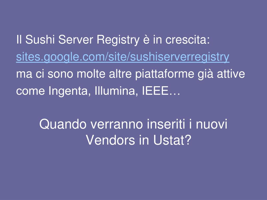 Il Sushi Server Registry è in crescita:
