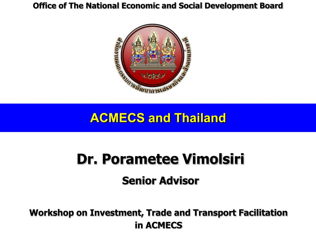 Office of The National Economic and Social Development Board