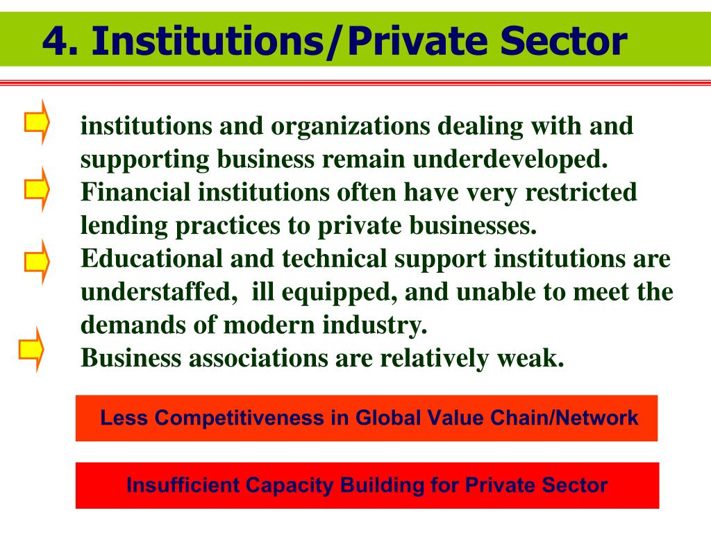 4. Institutions/Private Sector