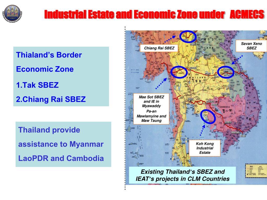 Industrial Estate and Economic Zone under   ACMECS