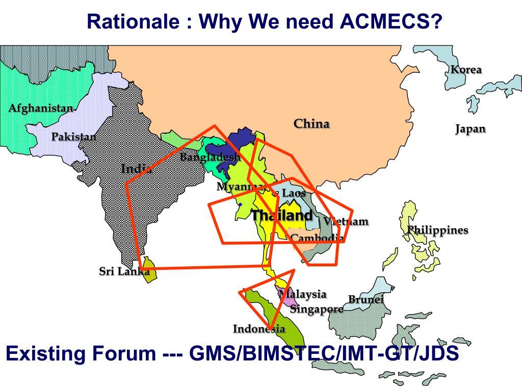 Rationale : Why We need ACMECS?