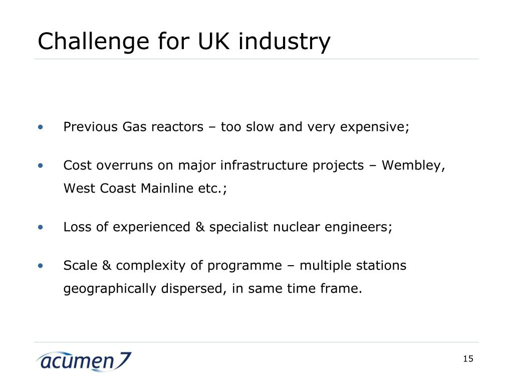 Challenge for UK industry