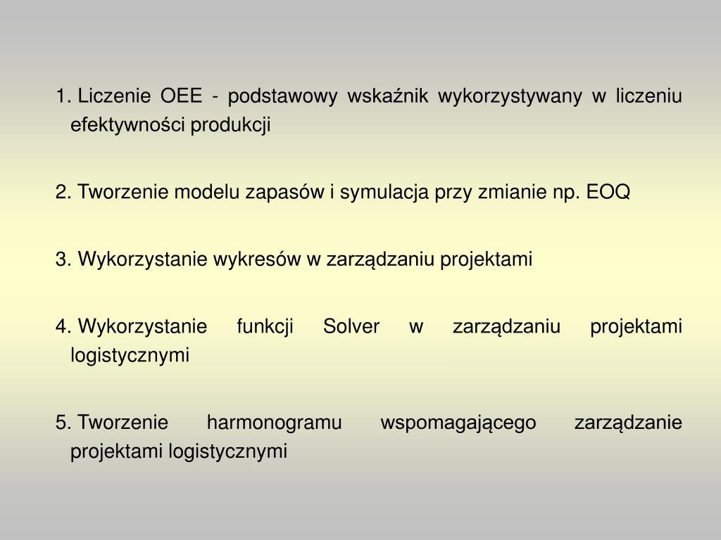 Liczenie OEE - podstawowy wskaźnik wykorzystywany w liczeniu efektywności produkcji