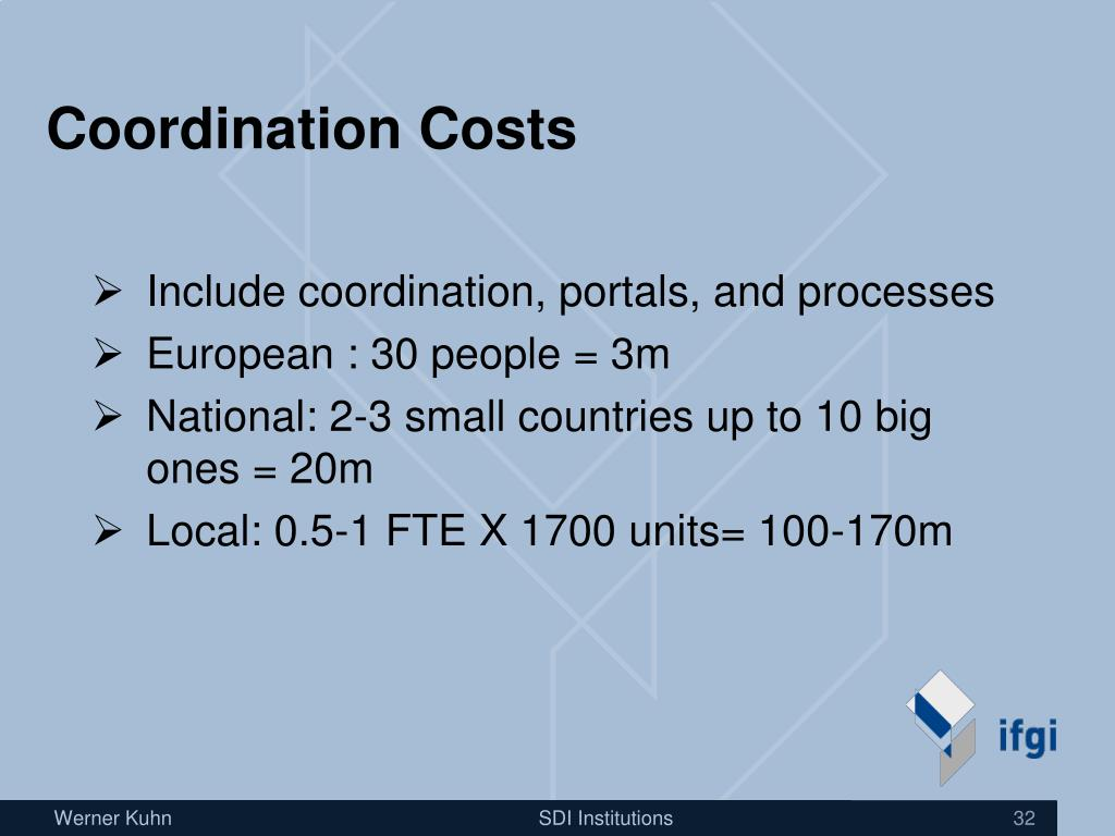 Coordination Costs