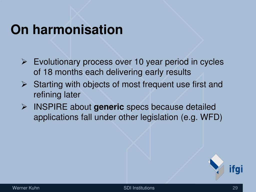 On harmonisation